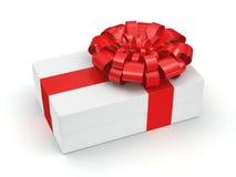 White gift box Stock Photos