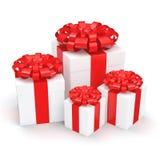 White gift box Royalty Free Stock Photos