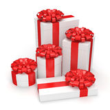 White gift box Stock Image