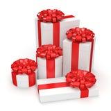 White gift box Stock Image