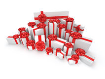 White gift box Stock Photos