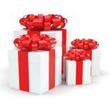 White gift box Royalty Free Stock Image