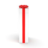 White gift box Royalty Free Stock Photography
