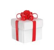 White gift-box Stock Photos