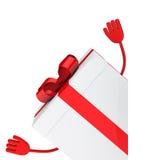 White gift box wave Stock Photos