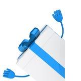 White gift box wave Royalty Free Stock Image
