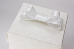 White gift box on white background Royalty Free Stock Images