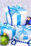 White gift boxes Stock Photography