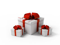 White gift boxes Stock Photo