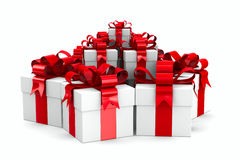 White gift boxes Royalty Free Stock Photos