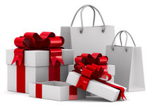 White gift boxes Royalty Free Stock Photo