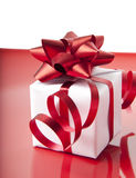 White gift boxes. On white background Royalty Free Stock Photography