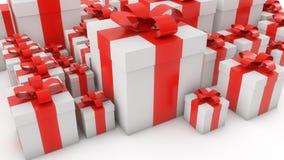 White gift boxes Royalty Free Stock Photos