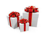 White Gift Boxes Royalty Free Stock Photography