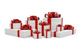 White Gift Boxes Stock Photo
