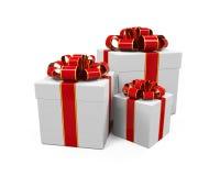 White Gift Boxes Stock Photos