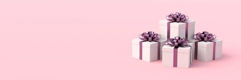 White gift boxes royalty free stock photo