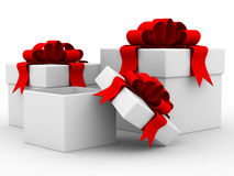 White gift boxs. Stock Images