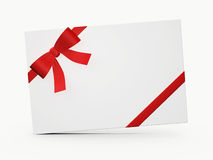 White Gift Card Royalty Free Stock Photography