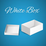 White gift carton box Stock Images