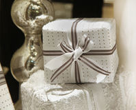 White gift Stock Photo