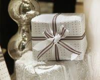 White gift stock photo