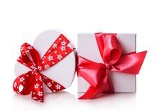 White gift heart box Stock Image