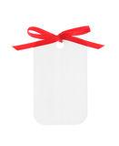 White gift with red ribbon (Clipping Path included) Stock Images