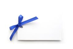 White gift tag Stock Image