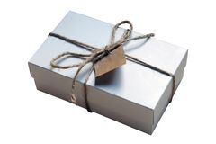 White giftbox Stock Images
