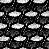 White gingko leaf sketch doodle set 2 Royalty Free Stock Photo