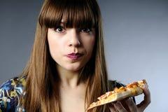 White Girl Tasting Food Stock Photography