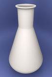 White glass 3d retort  Stock Photo