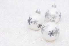 White Glass Balls Stock Photo