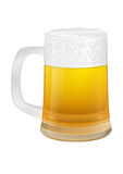 White glass of beer Royalty Free Stock Images