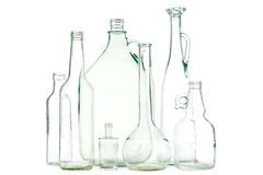 White glass bottles Stock Photography