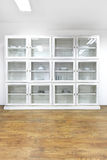 White glass cabinet Royalty Free Stock Photo