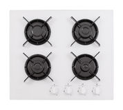 White glass gas hob Royalty Free Stock Images