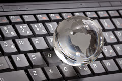 White glass globe Royalty Free Stock Photo