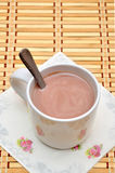 White Glass of hot chocolate Royalty Free Stock Photos