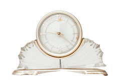 White glass rarity clock Stock Photo