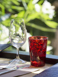 White glass and red glass Royalty Free Stock Photo