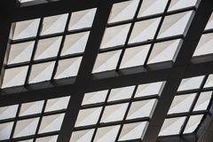 White glass roof in the mall.  Stock Photography