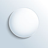 White glass sphere shape button Royalty Free Stock Image