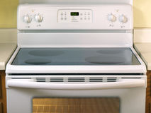 White Glass Stove top half Royalty Free Stock Photo