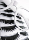White Glasses and False Eyelashes Stock Photography