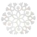 White glitter snowflake Stock Photos