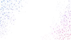 White global communication background with colorful network. royalty free illustration