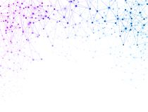 White global communication background with colorful network. stock illustration