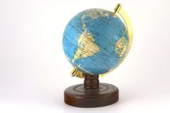 White Globe. Old style world globe on white background Stock Photography